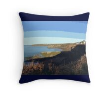 Pembrokeshire Coastline- Solva Throw Pillow