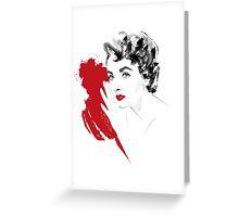 Red Liz Greeting Card