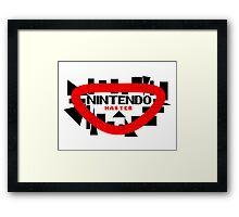 NINTENDO MASTER Framed Print