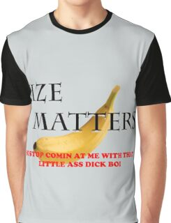 Size Matters funny banana Graphic T-Shirt