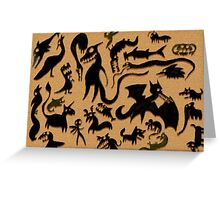 Shadow Creatures Greeting Card