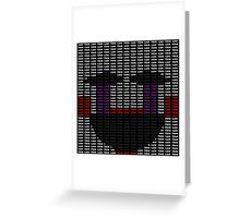 Creepy Puppet Typography Greeting Card