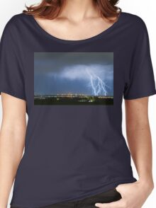 Northeast Colorado Lightning Strike and City Lights Women's Relaxed Fit T-Shirt