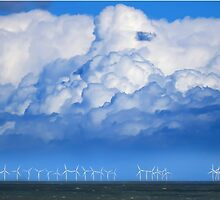 Wind Farm in the Channel by Andy Coleman