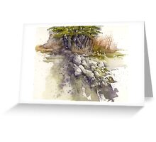 Rockslide Study Greeting Card