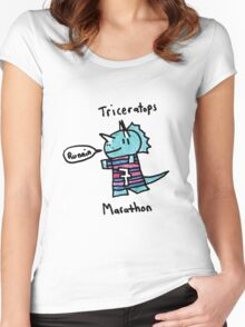 Maraton Triceratops Women's Fitted Scoop T-Shirt
