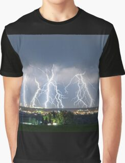 Severe Thunderstorm Panorama Graphic T-Shirt