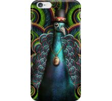 Steampunk - Pretty as a peacock iPhone Case/Skin