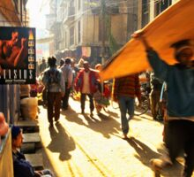 Kathmandu street scene Sticker