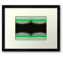 Green Double Delta Abstract Framed Print