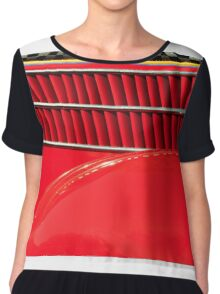 Old Car Fun Color Women's Chiffon Top