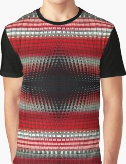 Red Grid Abstract Graphic T-Shirt
