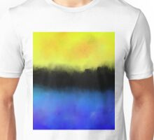 Separation - Abstract in black, blue and yellow Unisex T-Shirt