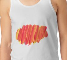 Funky Paint Stroke Orange and Yellow Tank Top