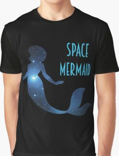 The Little Space Mermaid (Galaxy w/o Hemet) Graphic T-Shirt