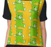 teddy bear green Chiffon Top