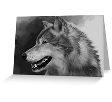 Grey Wolf Greeting Card