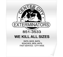 WE KILL ALL SIZES - Crimewave Poster