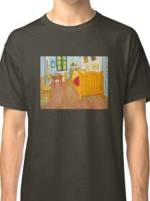 'The Bedroom in Arles, Saint Remy' by Vincent Van Gogh (Reproduction) Classic T-Shirt