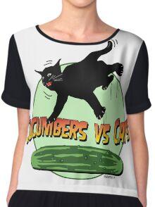 CUCUMBERS VS CATS!! Chiffon Top