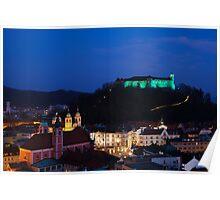 Ljubljana Castle Poster