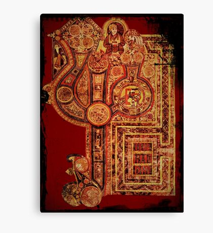 Celtic Illuminated Page Canvas Print