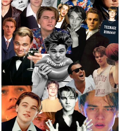 Leonardo Dicaprio Collage Sticker