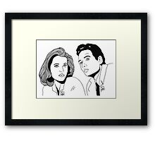 Scully and Mulder Framed Print