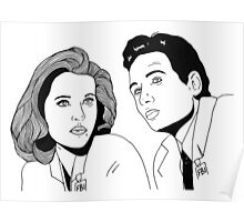 Scully and Mulder Poster
