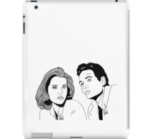 Scully and Mulder iPad Case/Skin