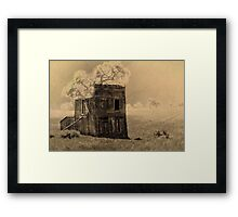 Ghost Town Abstract Framed Print