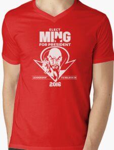 Ming for President Mens V-Neck T-Shirt