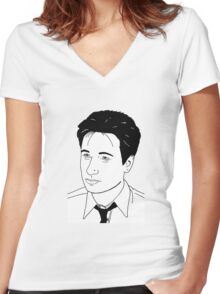 Fox Mulder Women's Fitted V-Neck T-Shirt