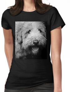 Portrait in Black & White Womens Fitted T-Shirt