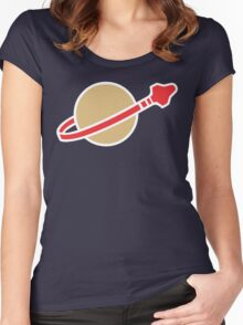 Lego Classic Space Women's Fitted Scoop T-Shirt