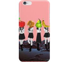Fruit Headed School Girls iPhone Case/Skin