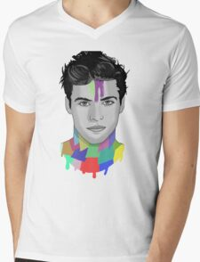 Matthew Daddario Mens V-Neck T-Shirt