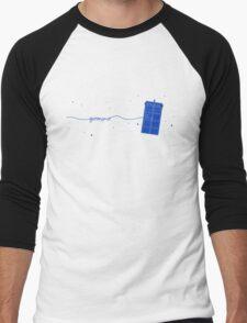 Geronimo to the TARDIS (in blue) Men's Baseball ¾ T-Shirt