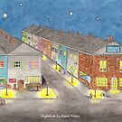 Nightlife In Hare Town (with title on print) by Briony Ryan