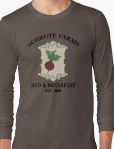 Schrute Farms Bed And Breakfast - Dwight Schrute - The Office Long Sleeve T-Shirt