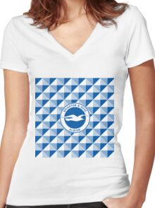 Brighton & Hove Albion football club Women's Fitted V-Neck T-Shirt