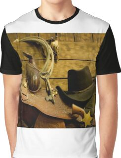 Old West Marshal Graphic T-Shirt