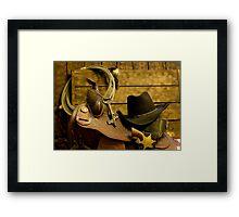 Old West Marshal Framed Print