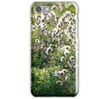 White Fluffy Plants iPhone Case/Skin
