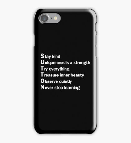 Sutton Foster - Life Lessons Acrostic  | Black iPhone Case/Skin