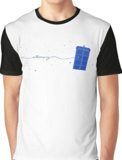 Allons-y to the TARDIS (in blue) Graphic T-Shirt