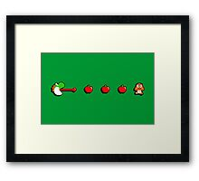 Pac-Yoshi's Healthy Appetite Framed Print