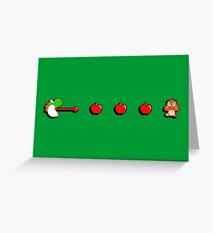 Pac-Yoshi's Healthy Appetite Greeting Card