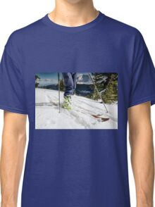 back country ski tour Classic T-Shirt