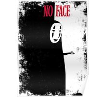 NO FACE (distressed) Poster